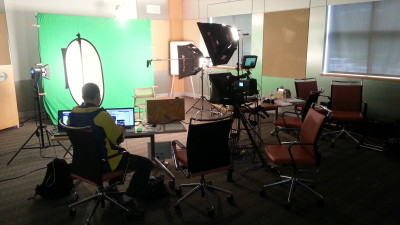 Green screen shoot on location