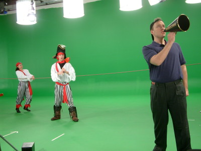 Children's video teaching English on green screen