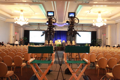 Two-camera live webcast at a hotel