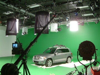 Mercedes-Benz getting a high angle for a roof accessories video