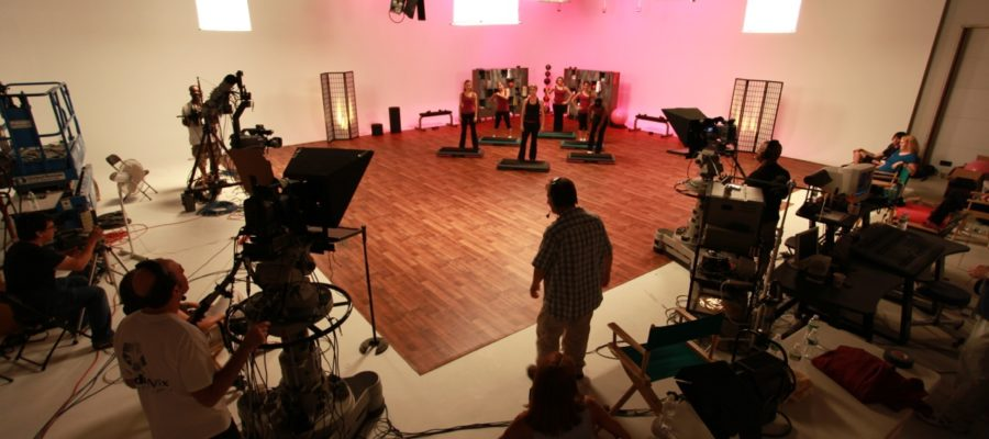 Photo of workout video production in Studio A at MediaMix Studios