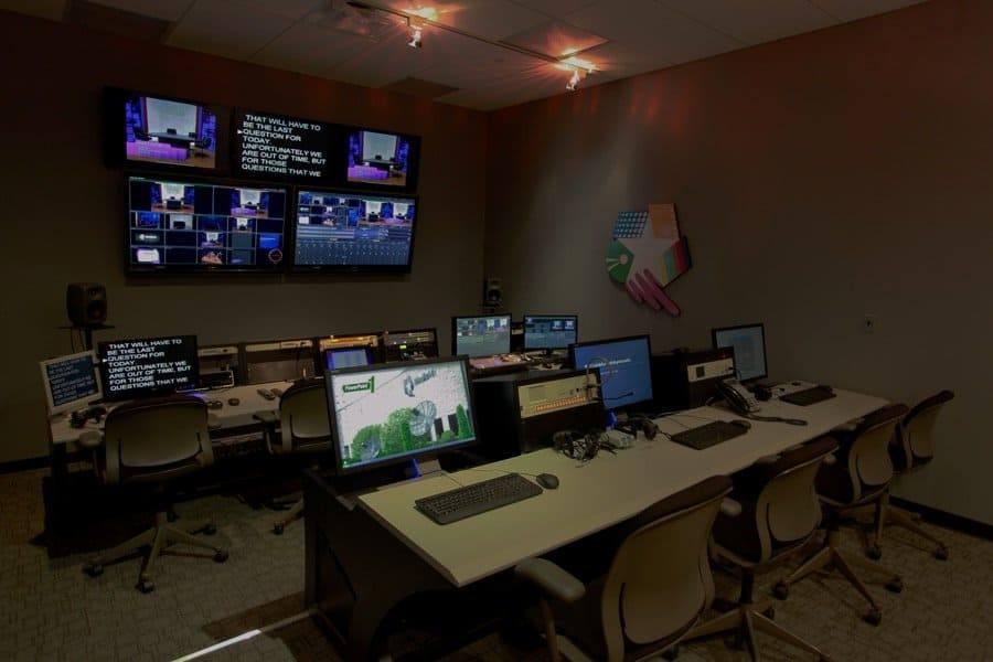 Control room photo at MediaMix