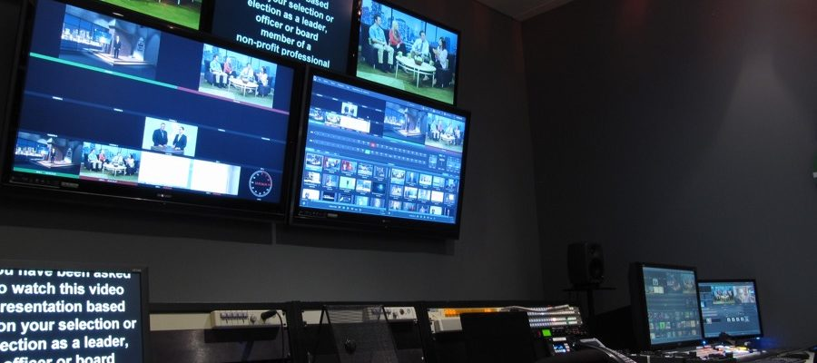 Front from of the control room at MediaMix