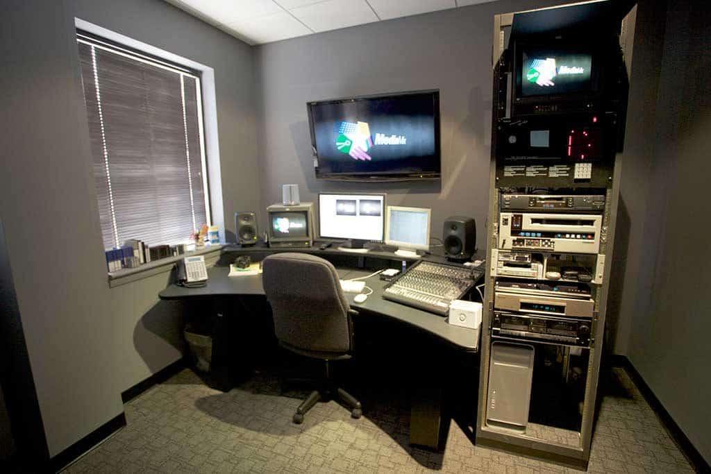 Photo of editing suite