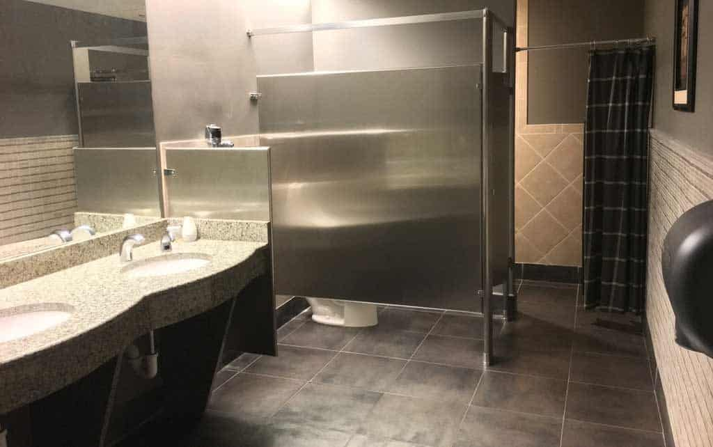 photo of bathroom with shower