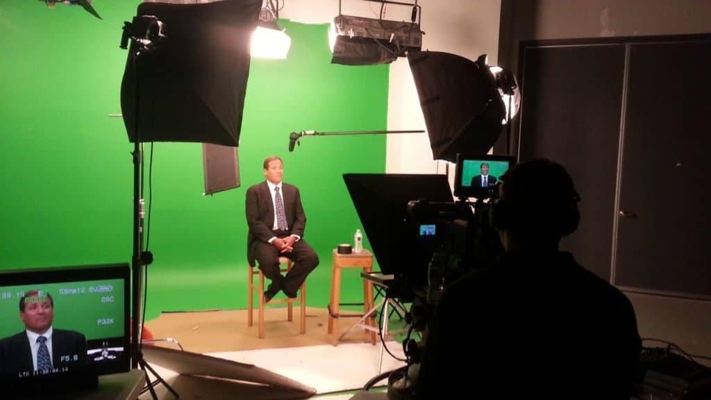 green screen studio - talking head shoot in Studio B at MediaMix Studios