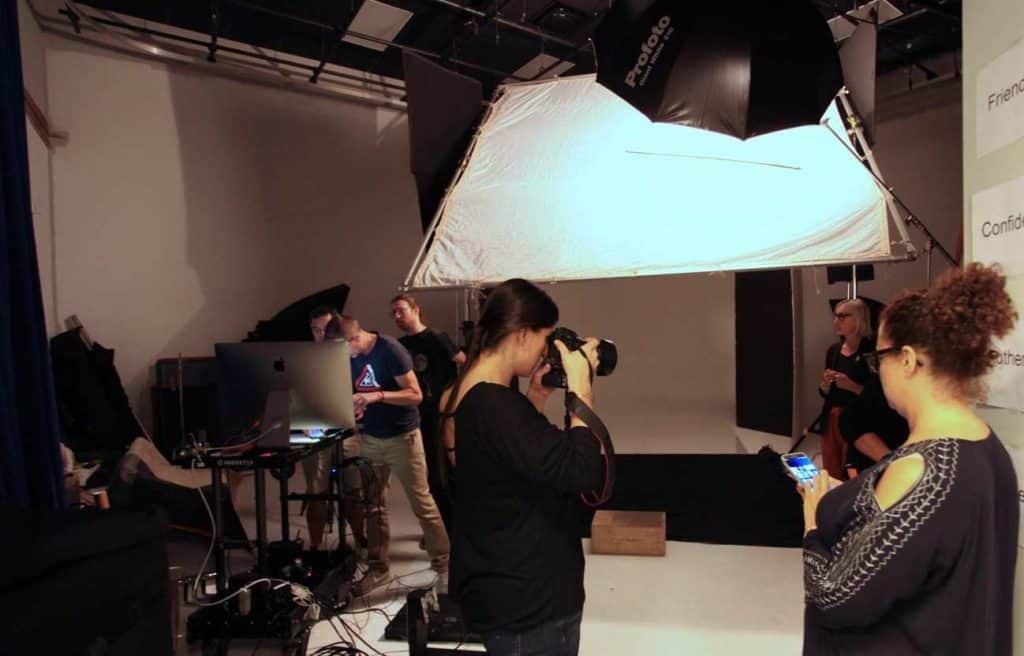 Photo shoot in Photography Studio B