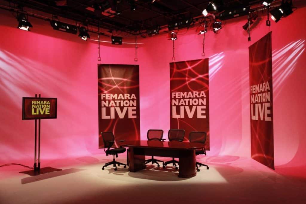 Live Webcast Set in Studio A