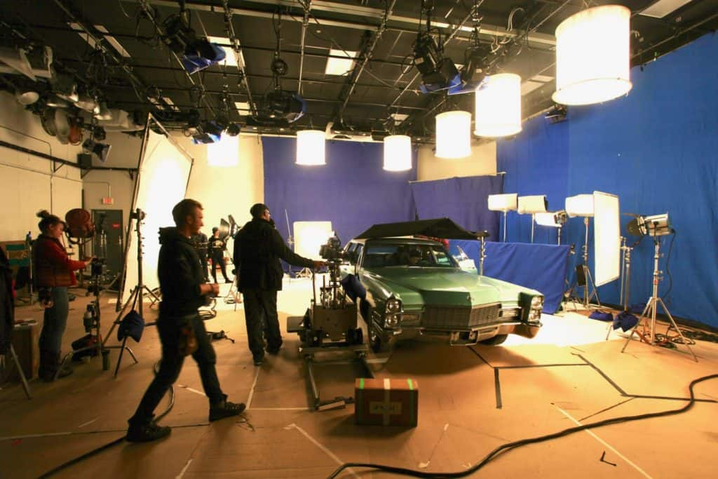 Production photo of a Mero & Desus short in Studio A at MediaMix Studios