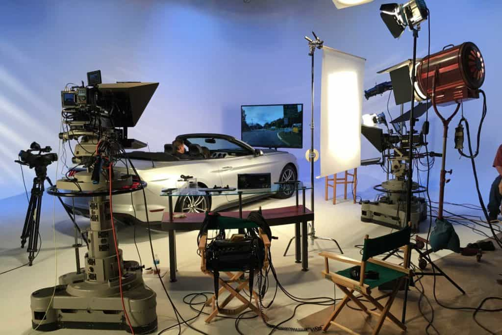 Production Photo of MirrorCam video shoot at MediaMix Studios