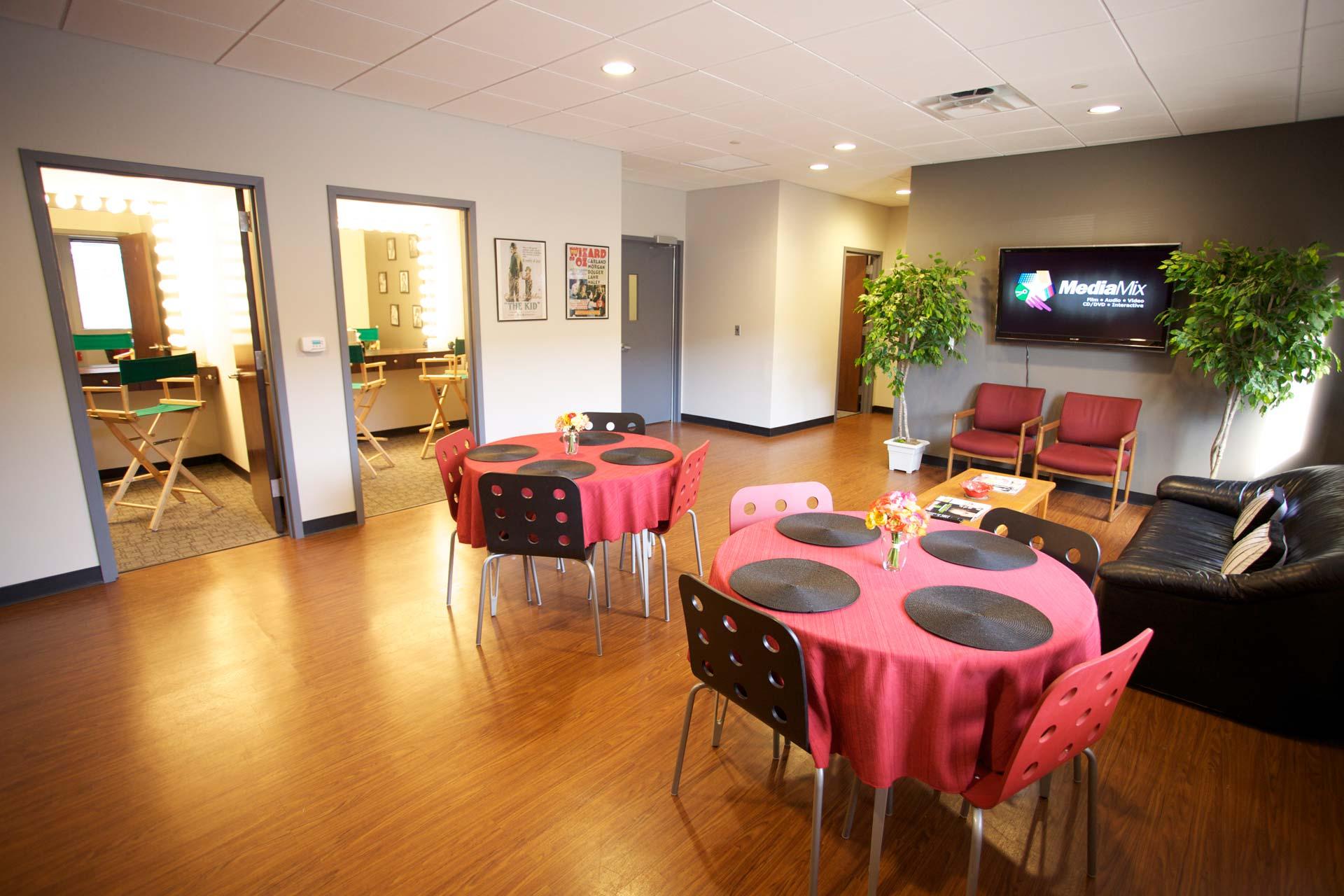 Photo of the Green Room at MediaMix Studios