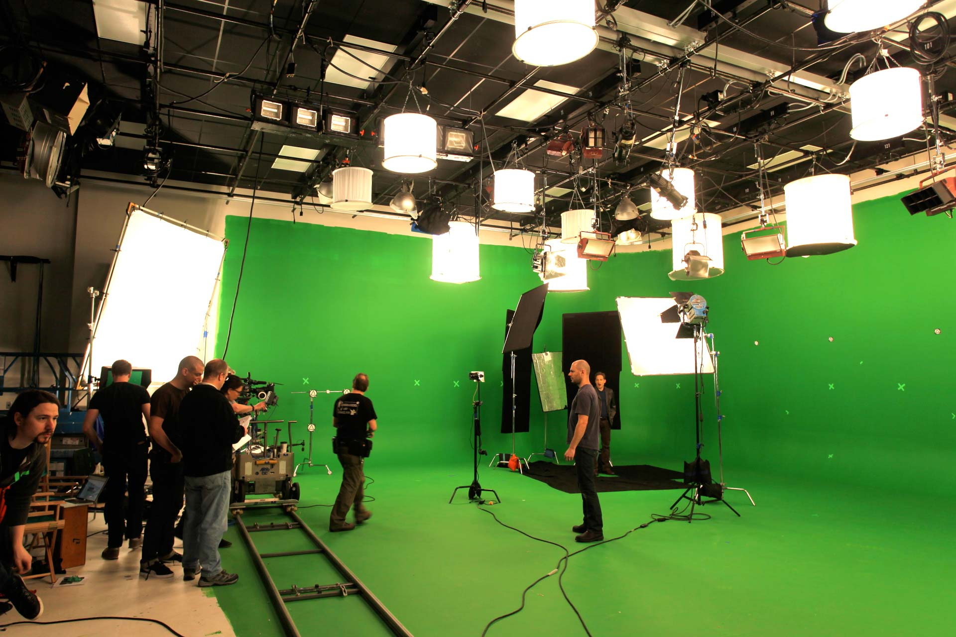 Production Photo of shoot for NOVA WGBH Boston in Studio a