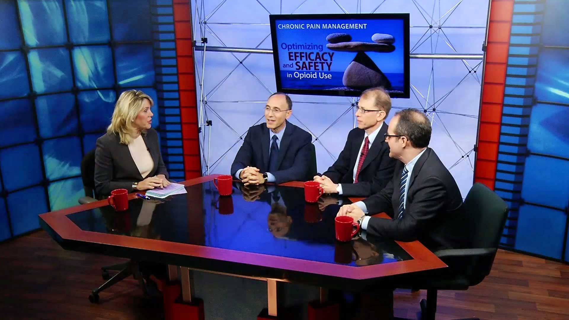 Production Photo of a Roundtable discussion in Studio B at MediaMix Studios