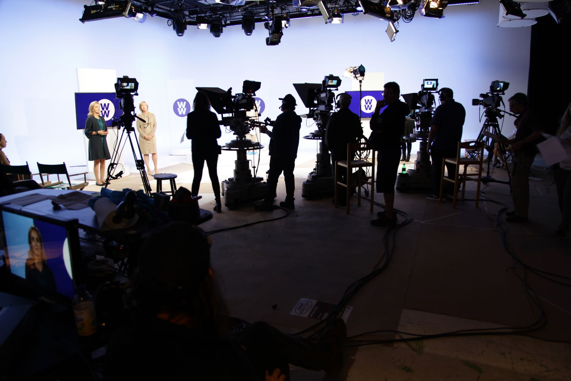 Production Photo of a Live Webcast in Studio A