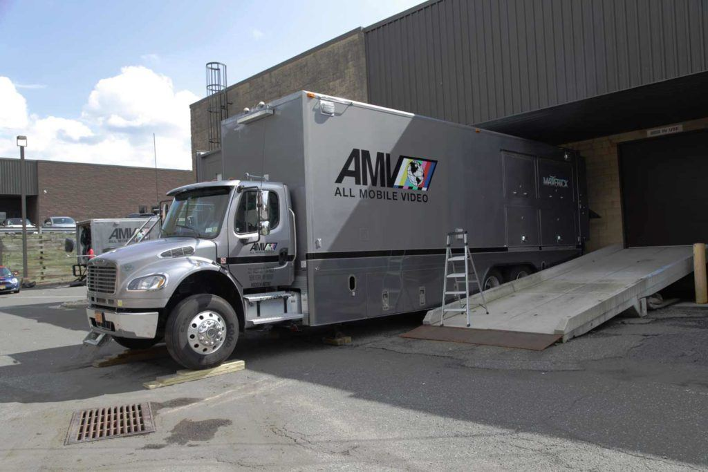 Photo of truck parked in the loading dock at MediaMix Studios